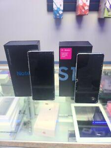 Lot of 2: Samsung Galaxy S10+ SM-G975U - 128GB - Prism Blue + Note 8 N950U