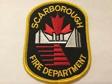 Borough of Scarborough Fire Department Patch-Old Ontario,Canada Pre.1998 Toronto