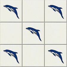 24 x Dolphin Vinyl Tile Transfers, Sticker Decal for Bathroom decor 10cm x 5cm