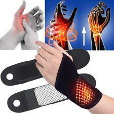 1 Pair Self-heating Magnet Wrist Support Brace Protector Tourmaline Wristband AK