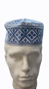 New Men Prayer Muslim Koofi Cap Embroidered Beanie Hat Islam Egyptian Kufi Gift