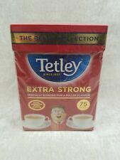 Tetley Extra Strong Tea Bags 75 per pack USA Seller