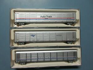 N scale Con-Cor Amtrak phase IV auto rack car rare w/box
