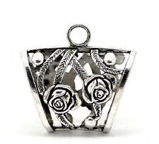 ROSE Design Perlina Color Argento cauzione Anello per Sciarpa o Wrap ecc. (REGALO IDEALE)