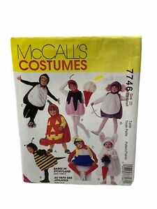 7746 UNCUT McCalls SEWING Pattern Bee Pumpkin Bunny Mouse Halloween Costume XS