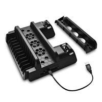 PS4 /Slim /Pro Console Hoder Dock Cooling Base Dual Joystick Charger Station HOT