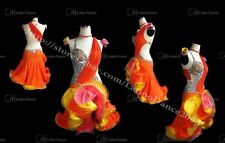 LATIN SALSA COMPETITION CRYSTAL DRESS WITH HIGH QUALITY RHINESTONE M199