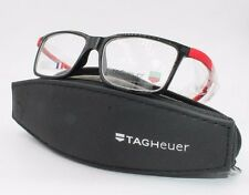 Tag Heuer Reflex TH 3051 002 Black/Red Frame RX Eyeglasses NWT AUTH