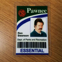 Parks and Recreation ID Badge -City of Pawnee Ron Swanson costume prop cosplay