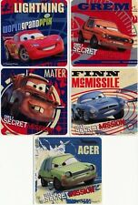 5 x Square Stickers ~ Cars 2 Acer Finn Grem Mater Secret Mission Lightening ~