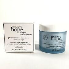 Philosophy Renewed Hope In A Jar Water Cream Hyaluronic Glow Moisturizer 2 oz