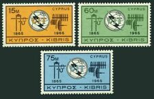 Cyprus 257-259,MNH.Michel 253-255. ITU-100,1965.Communication Equipment.