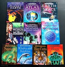 10 Lot  USBORNE INTERNET-LINKED Space  Planet Earth  World  People of World  RL5