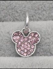 Disney Mickey Mouse Diamanté Head Bead Charm. Fits Most Bracelets. BN