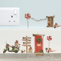CHRISTMAS ELF WALL STICKERS - Santa's Elves Xmas Advent Shelf Idea / Decoration