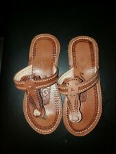 African sandals.Exotic real leather sandals