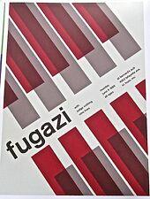 Fugazi Mini-Concert Poster Reprint Fugazi Band 1989 St Louis MO Gig 13x10