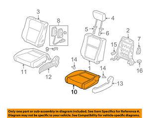 HONDA OEM Element Front Seat Bottom-Foam Cushion Pad Insert Right 81132SCVA01