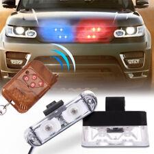 2pcs CarTwo LED Red/Blue Police Strobe Flash Light Dash Emergency Flashing Light