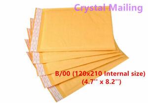 100 B/00 B00 Gold Padded Bubble Lined Postal Envelopes MAIL Cheap 120 x 210mm 4U