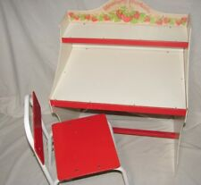 Vintage Strawberry Shortcake Rare Child Desk and Chair Furniture