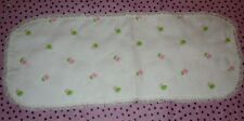 Little Me by Lois White Flowered Burp Cloth - from 1980s - VINTAGE