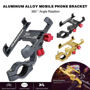 360° Aluminum Alloy Motorcycle&Bicycle Bike Handlebar Phone Holder Mount Bracket