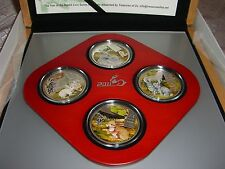2011 Cook Islands 4x 2$ Year of the Rabbit 4 x 20g Silver Coins Set