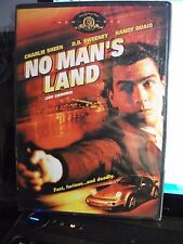 NEW RARE  DVD // No Man's Land //  CHARLIE SHEEN, RANDY QUAID OOP SEALED