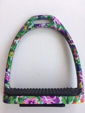 Horse Riding Stirrups Floral Print Stainless Steel Stirrups Flower Print