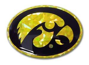 One Size NCAA Iowa Metal Emblem
