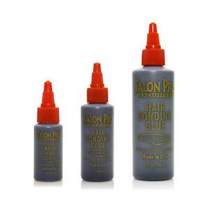 SALON PRO ANTI-FUNGUS HAIR BONDING GLUE BLACK SUPER BOND 1OZ, 2OZ, 4OZ