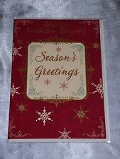 Traditional Nanna and Grandad Merry Christmas Card 2 X Cards to Choose From Card1