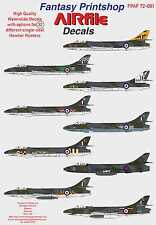 Airfile Hawker Hunter Single Seater Decals, 1/72,  32 Options, Fantasy Printshop