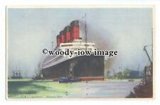 LS0993 - Cunard Liner - Aquitania - art postcard