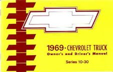 1969 Chevrolet Truck Owners Manual User Guide Reference Operator Book Fuses OEM