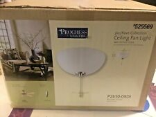 Progress Lighting  Joy/Rave Collection Ceiling Fan Light P2650-09D1 Nickel