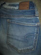 AMERICAN EAGLE Size 00 R x 29.5 Jegging Super Stretch Blue Denim Jeans Womens
