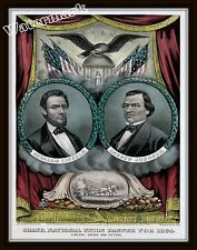 Wall Art  Civil War 1864  Republican Presidential Lincoln Johnson Ticket  11x14
