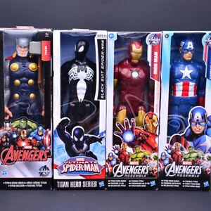 "12"" Marvel Avengers Iron-man Spiderman Action Figures Super Hero Toys Kids Gifts"