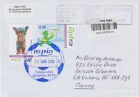 PIN Berlin  Beleg  Brief nach Kanada
