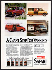 1985 GMC Safari Vintage Original Print AD - 4 models van photo Canada English