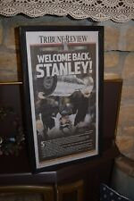 PITTSBURGH PENGUINS FRAMED NEWSPAPER 2016 STANLEY CUP CHAMPS TRIBUNE REVIEW