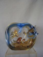 VINTAGE OX ZODIAC 'TITTOT' SIGNED CRYSTAL ART HANDCRAFTED PAPERWEIGHT SCULPTURE