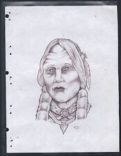 Original Hand Drawn Tattoo Prison Art Wolfe 2000 Outsider Art