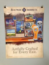 Coors Beer Blue Moon Beer Poster New Jersey Town & Parkway Turnpike Exit Poster