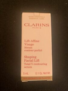 CLARINS LIFT-AFFINE VISAGE SHAPING FACIAL LIFT TOTAL V CONTOURING SERUM 0.1oz