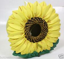"Sunflower Bird House Poly Resin Hand Painted Aerie 7"" X 6"" X 5"""