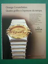 1985 PUB OMEGA WATCH MONTRE CONSTELLATION CHRONOMETER FRENCH ADVERT