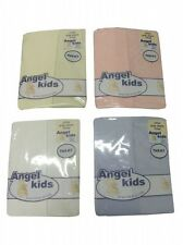 FITTED PRAM BOYS/GIRLS FITTED SHEETS COTTON 2 PACK BABY WHITE,CREAM,PINK,BLUE